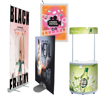 FREESTANDING SIGN HOLDERS AND PROMOTIONAL DISPLAY STAND